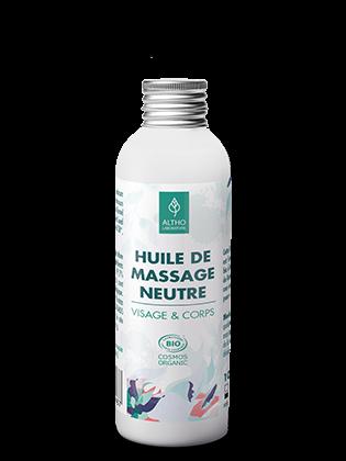 Huile de massage neutre bio 100 ml