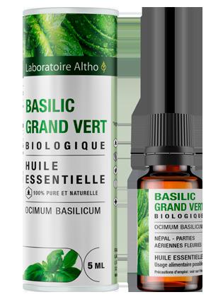 Huile essentielle de basilic grand vert bio