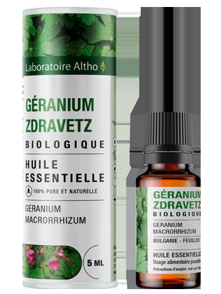 Huile essentielle de Géranium zdravetz bio