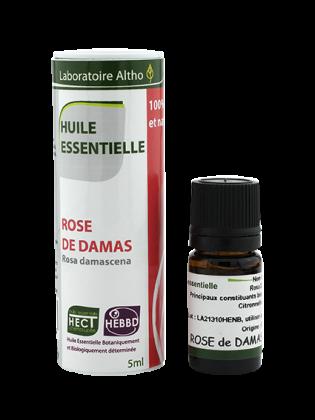 HUILE ESSENTIELLE de ROSE (damas) (NON BIO) 5 mL